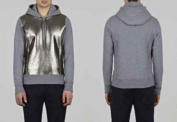 Currently Coveting: Neil Barrett Hoodie with Metallic Front