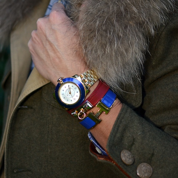 Glam Rock Watch, Hermes Clic H bracelet