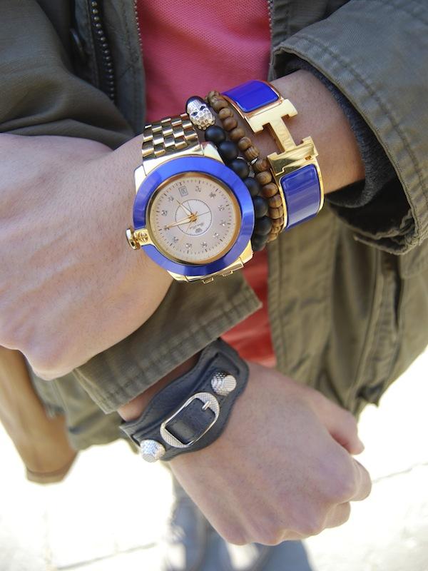 Balenciaga-Arena-bracelet-Hermes-Clic-H-blue-wristgame