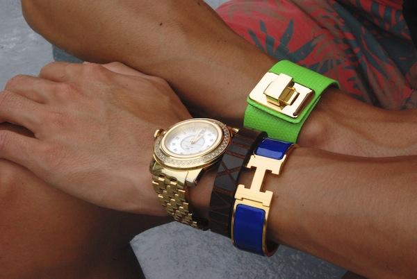 Hermes-blue-clic-h-Kara-Ross-cuff-wristgame