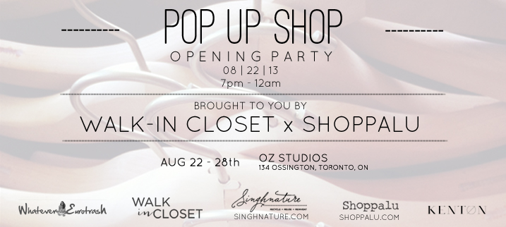 Walk-In Closet x Shoppalu Pop Up Opening Party