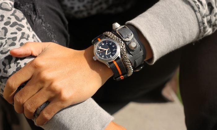 Fossil watch Balenciaga bracelet