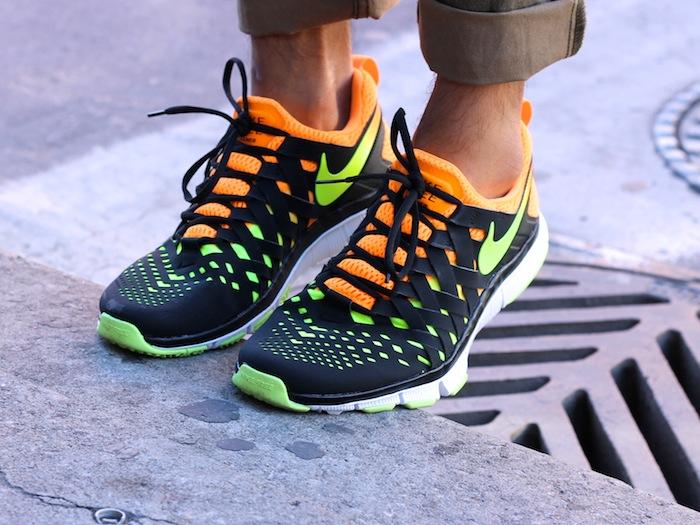 Nike free trainer neon