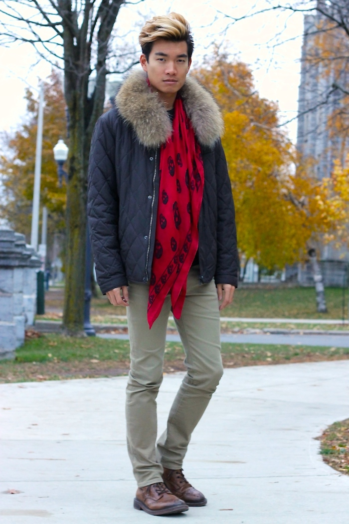Alexander Liang fall mens style mcqueen scarf 02