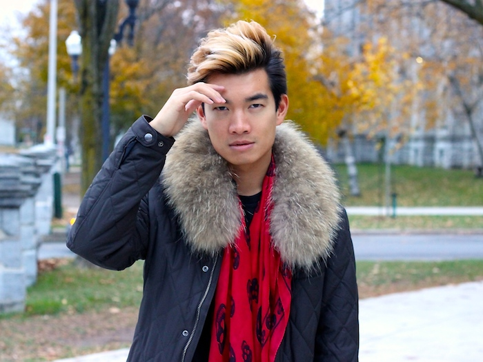 Alexander Liang fall mens style mcqueen scarf 03