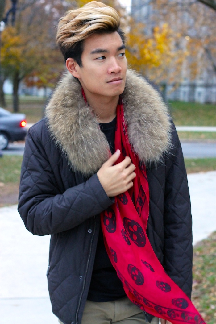 Alexander Liang fall mens style mcqueen scarf 04