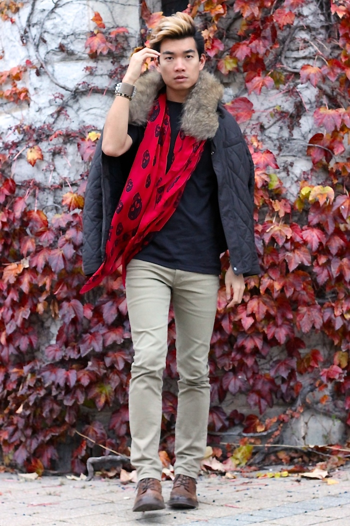 Alexander Liang fall mens style mcqueen scarf 06