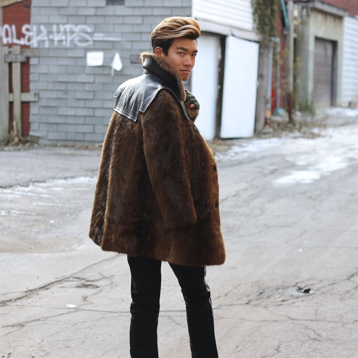 Alexander Liang mens style fur coat 03