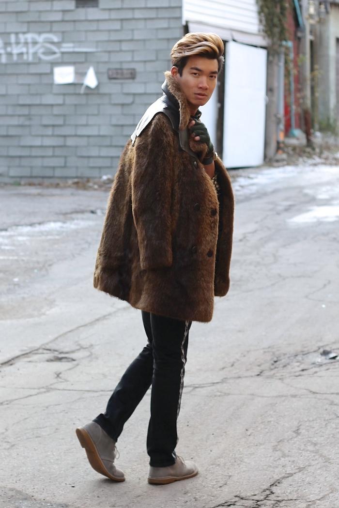 Alexander Liang mens style fur coat 04