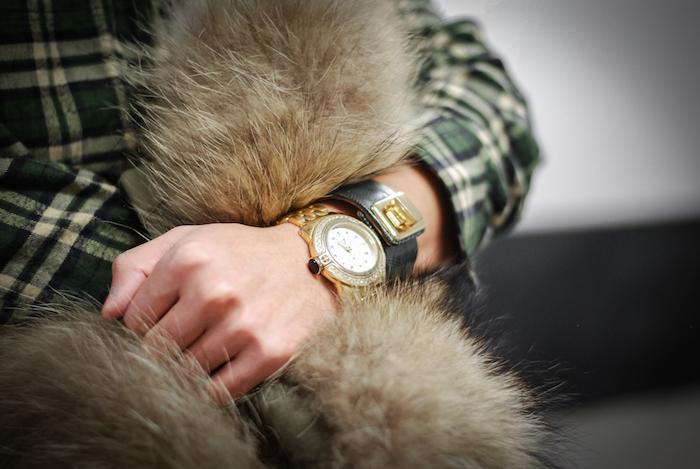 glam rock watch fur