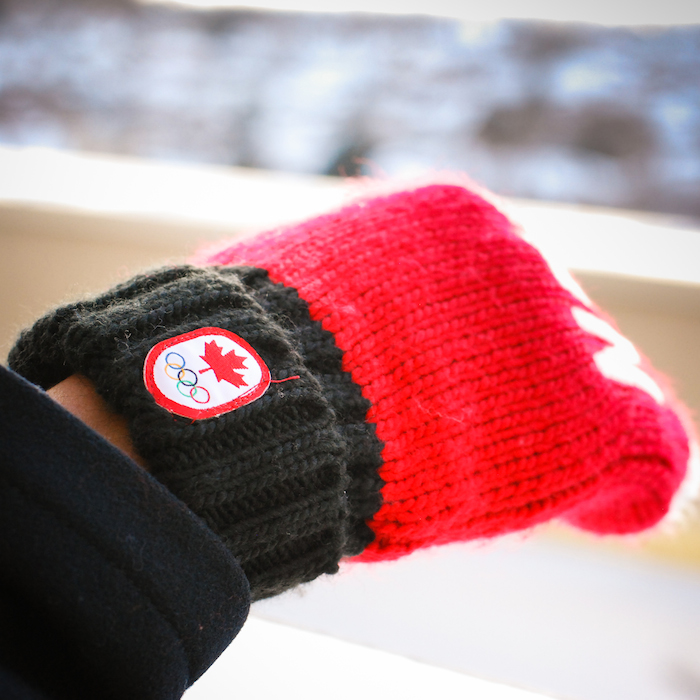 team canada red mittens