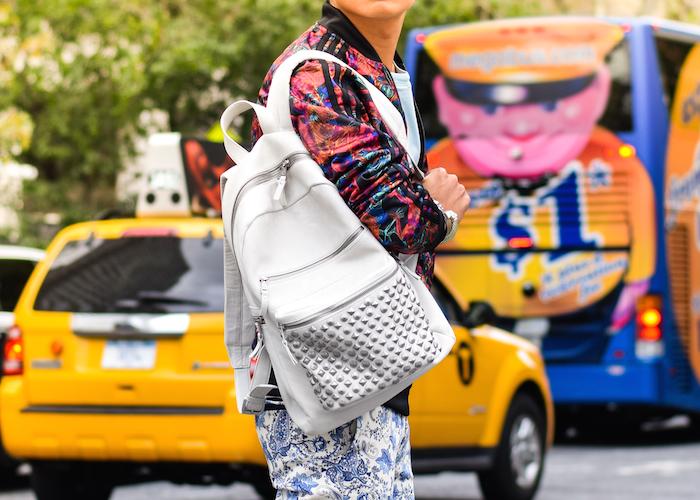 ash domino studded backpack