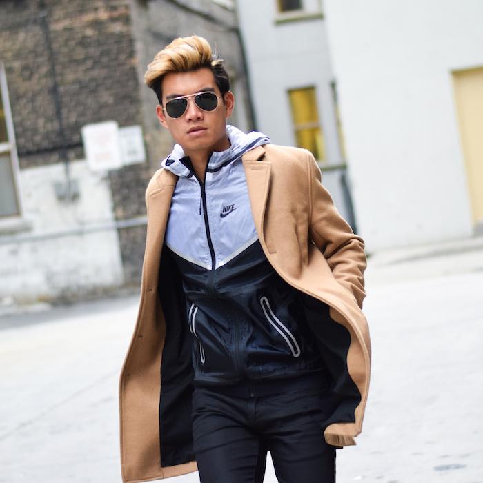 alexander liang mens winter style topman camel coat nike 02