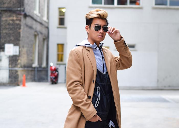 alexander liang mens winter style topman camel coat nike 04