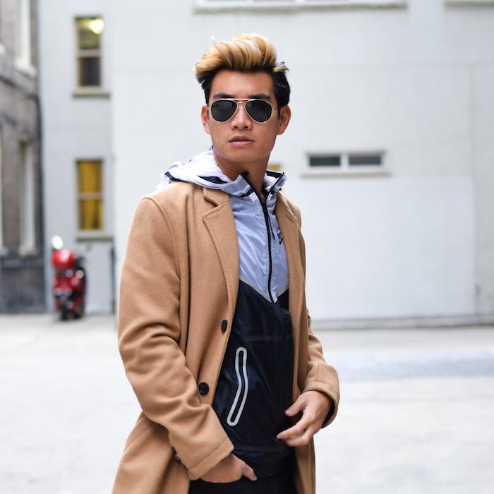 alexander liang mens winter style topman camel coat nike 05