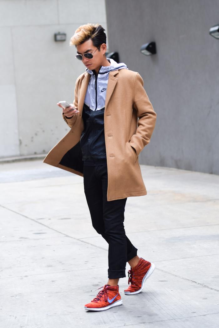 alexander liang mens winter style topman camel coat nike 07