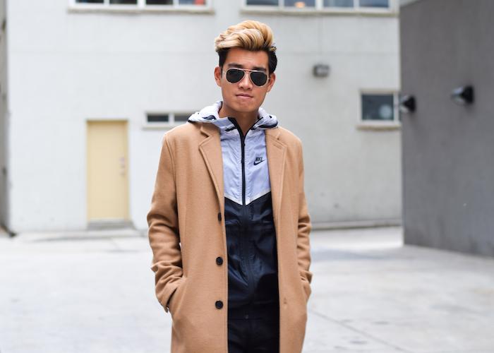 alexander liang mens winter style topman camel coat nike 08