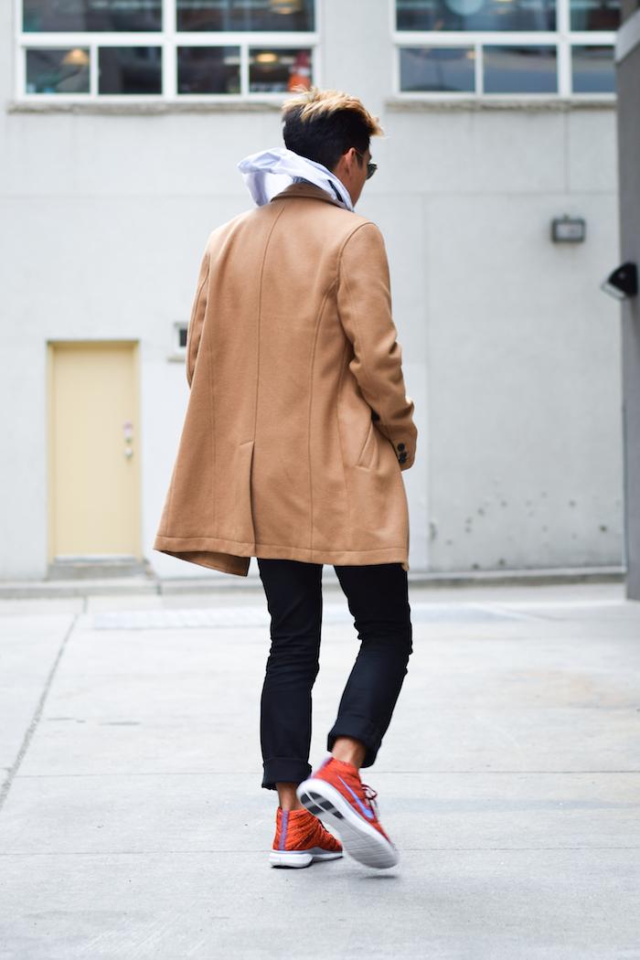 alexander liang mens winter style topman camel coat nike 09