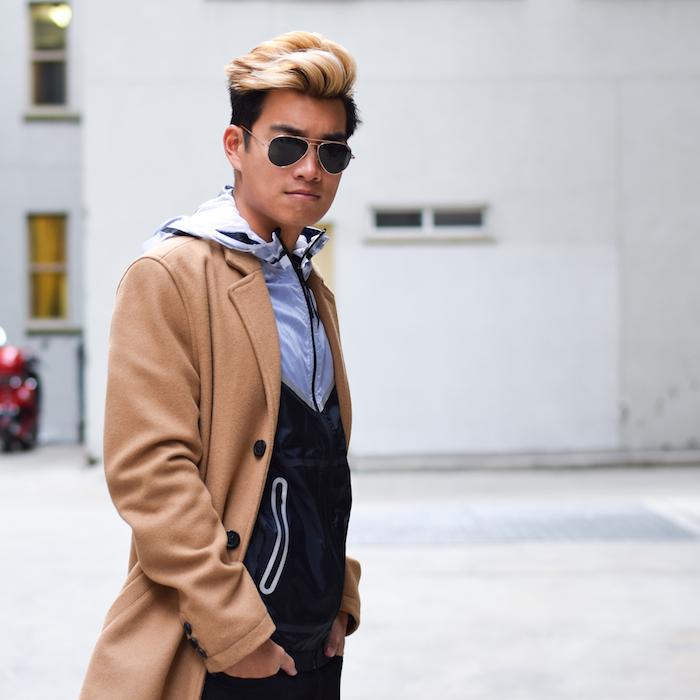 alexander liang mens winter style topman camel coat nike 10