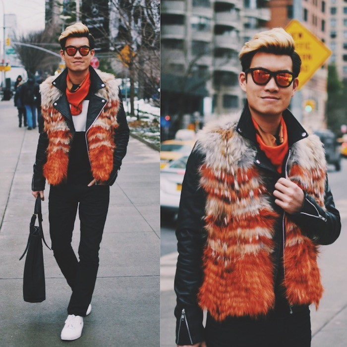 nyfw-street-style-alexander-liang-mens-fashion-orange-red-fur