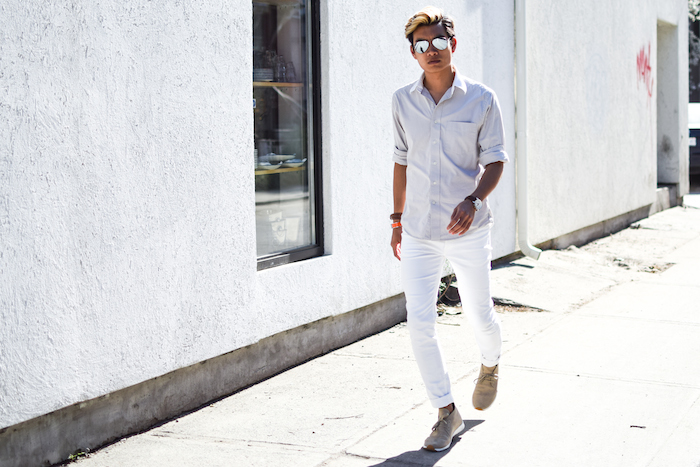 alexander liang mens style blogger silver ray ban sunglasses 02