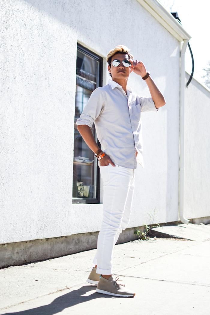 alexander liang mens style blogger silver ray ban sunglasses 04