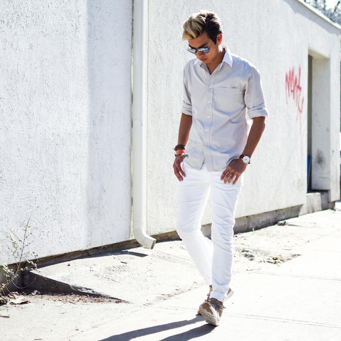 alexander liang mens style blogger silver ray ban sunglasses 05