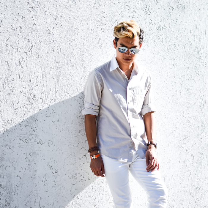 alexander liang mens style blogger silver ray ban sunglasses 06