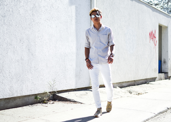 alexander liang mens style blogger silver ray ban sunglasses 07