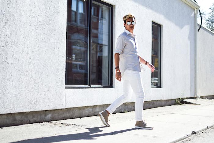 alexander liang mens style blogger silver ray ban sunglasses 11