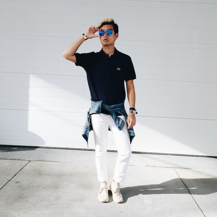 alexander liang mens summer style lacoste levis