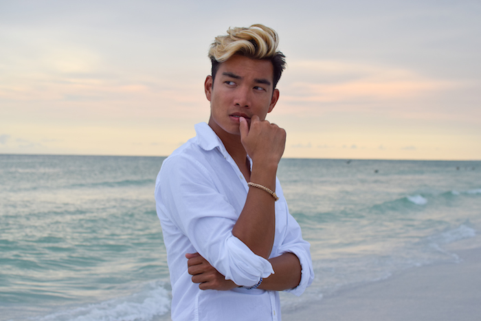 siesta key beach sunset alexander liang mens style 04