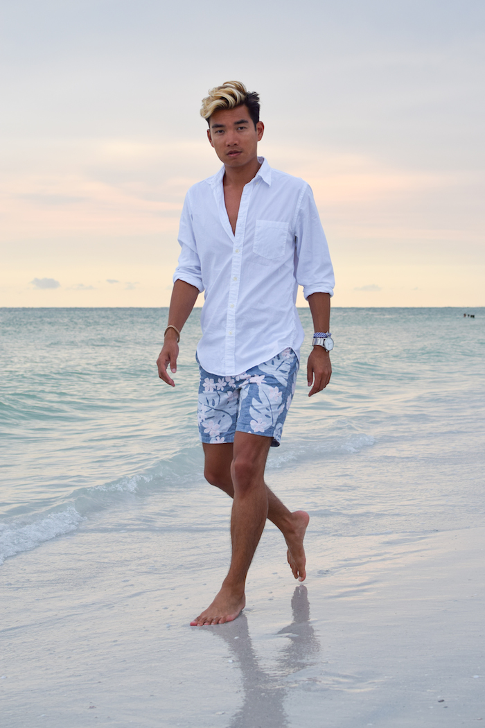 siesta key beach sunset alexander liang mens style 05