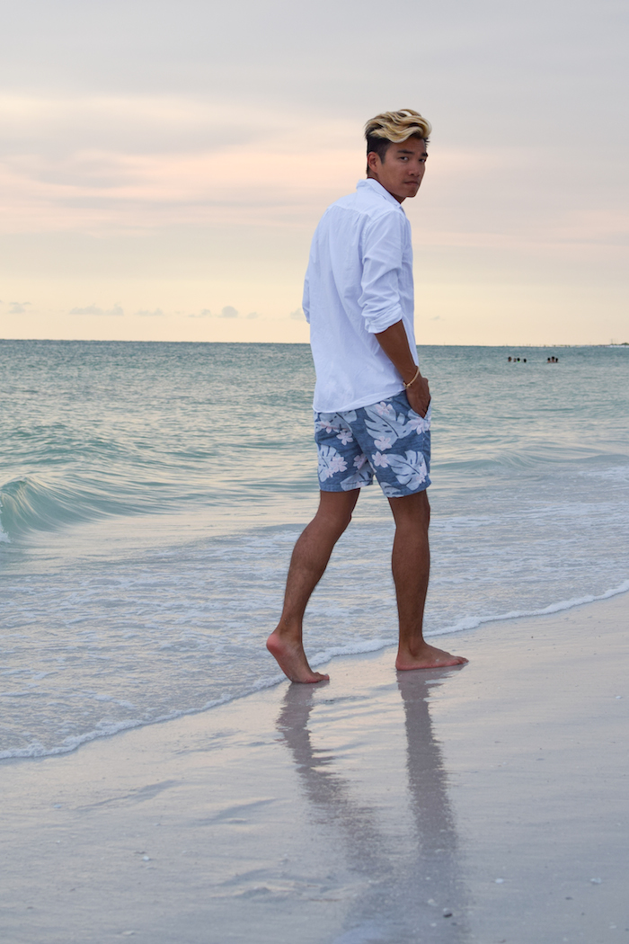 siesta key beach sunset alexander liang mens style 06
