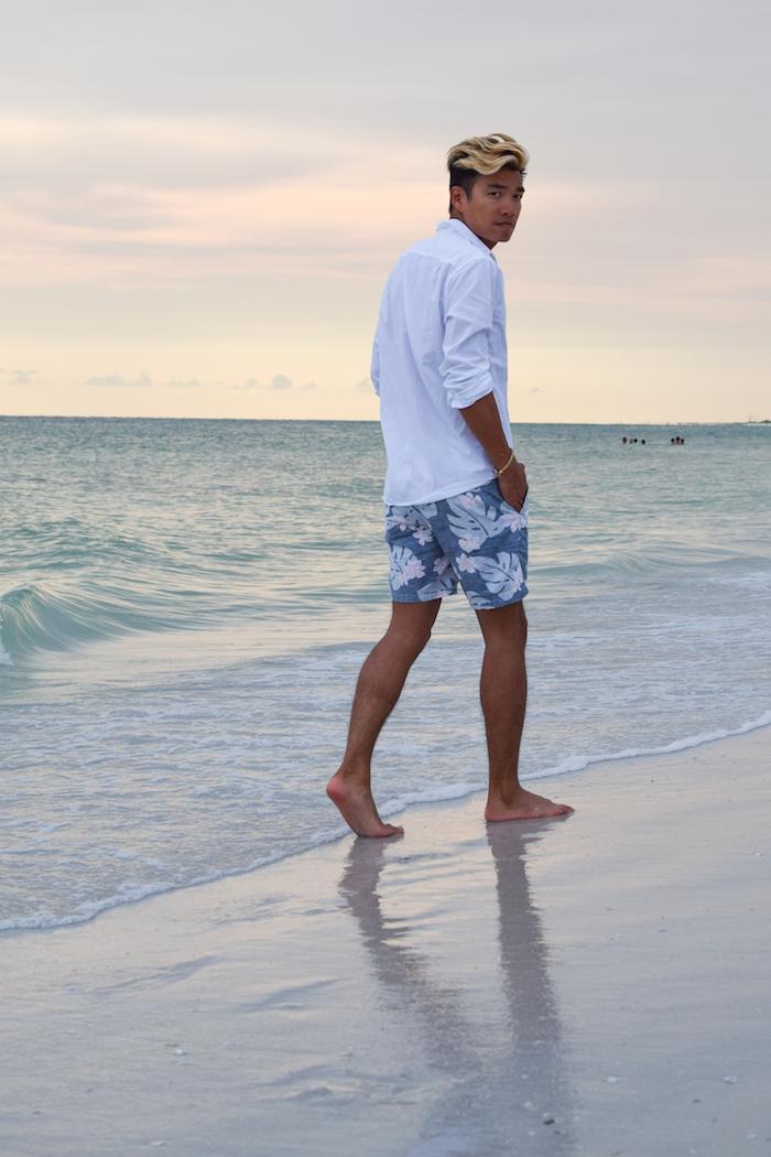 siesta key beach sunset alexander liang mens style 06