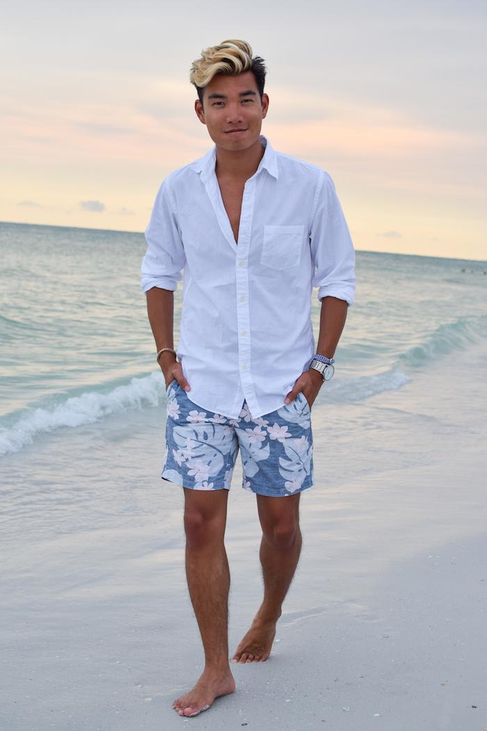 siesta key beach sunset alexander liang mens style 08