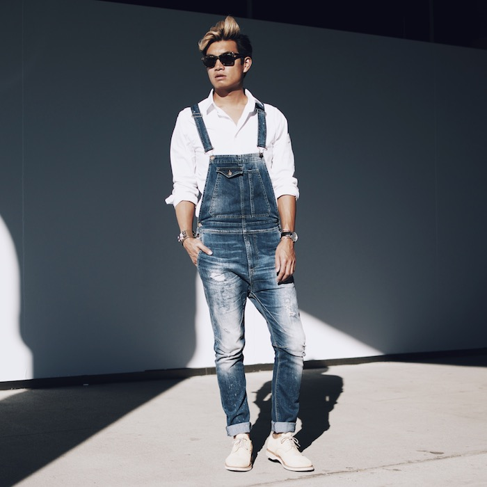 Apart from looking incredibly stylish, mens fashion overalls and jumpsuits are so easy to wear. It's already a winner for its simplicity. The beauty of wearing a mens fashion jumpsuit is you don't need to mess around with choosing a matching top.