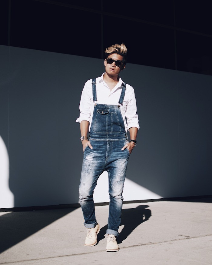 mens fashion overalls