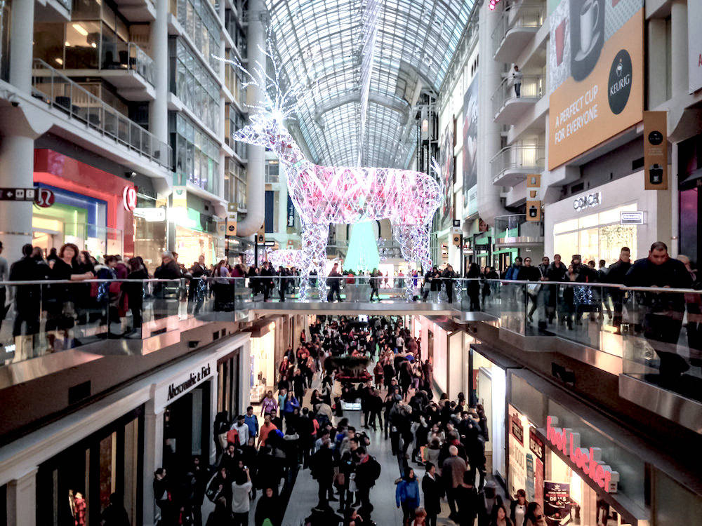 black friday toronto eaton centre shopping