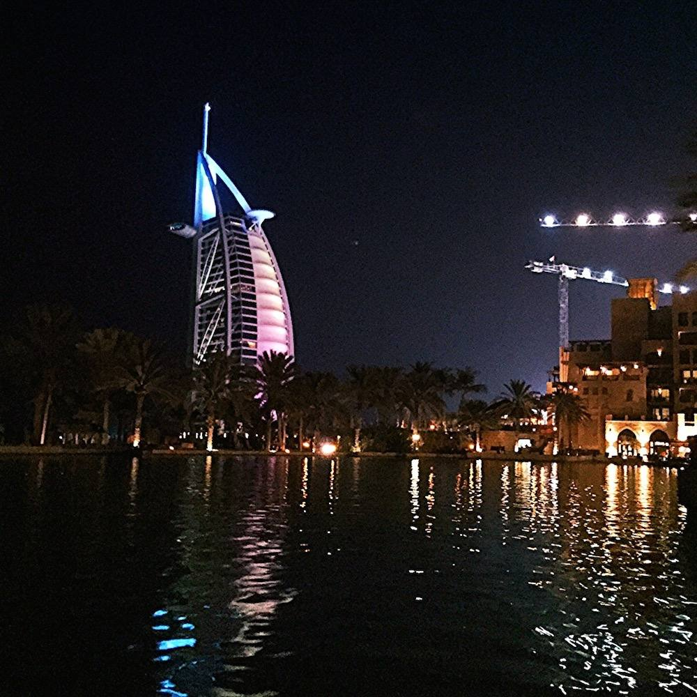 burj al arab night