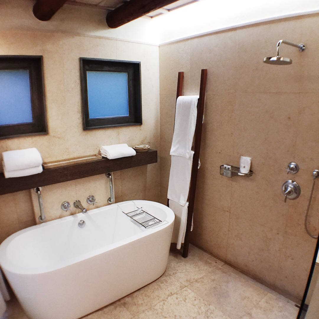 st regis punta mita bathtub shower