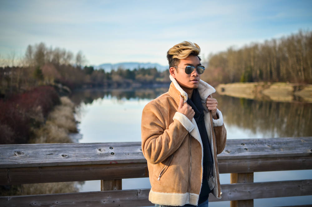 alexander liang shearling jacket
