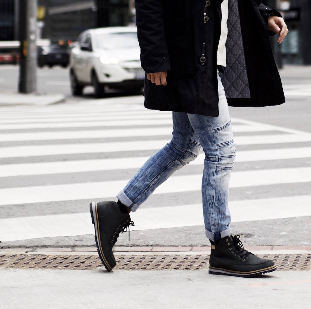 ripped biker jeans mens winter boots lacoste express
