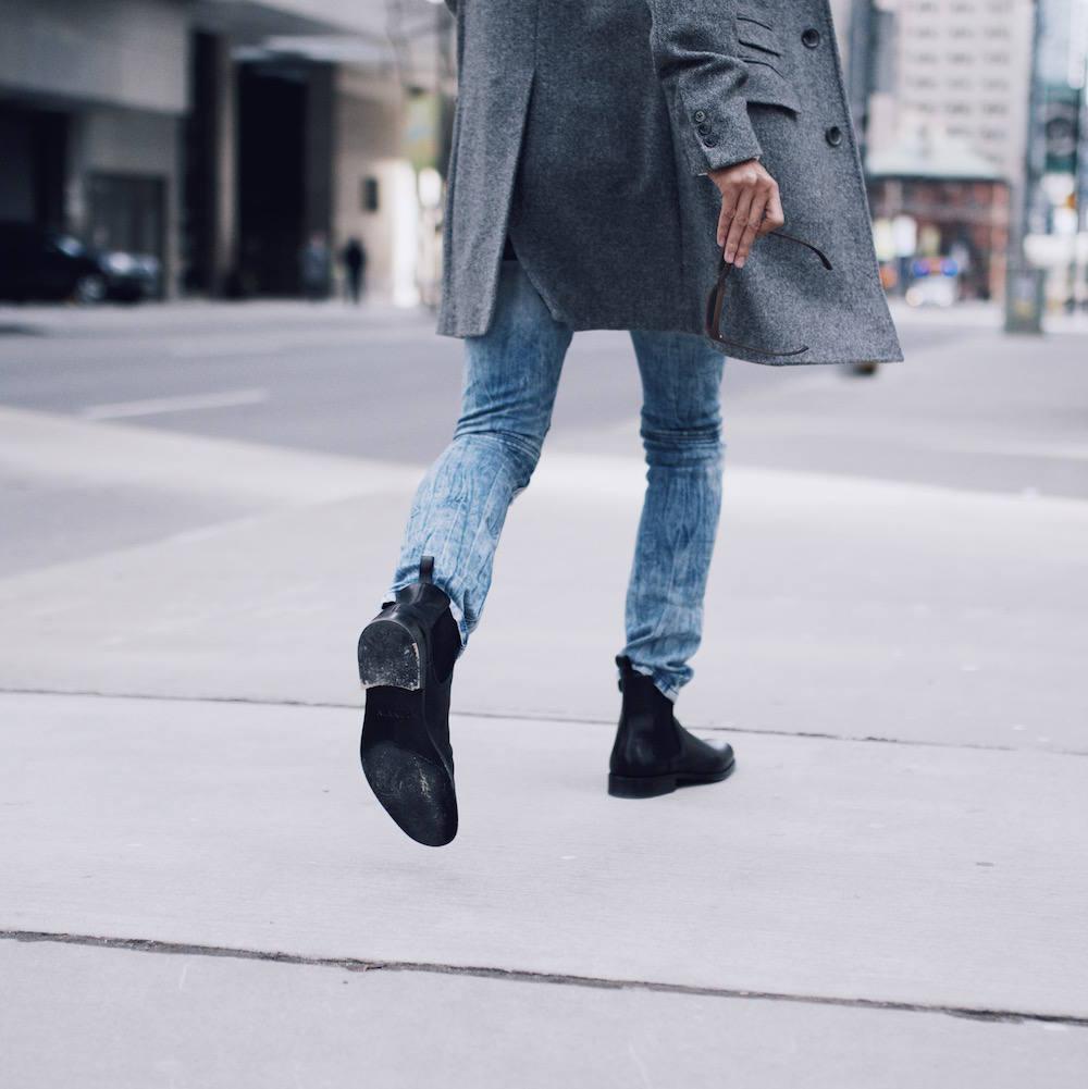 mens black chelsea boots