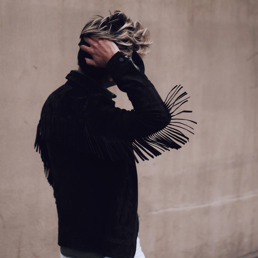 mens suede fringe jacket