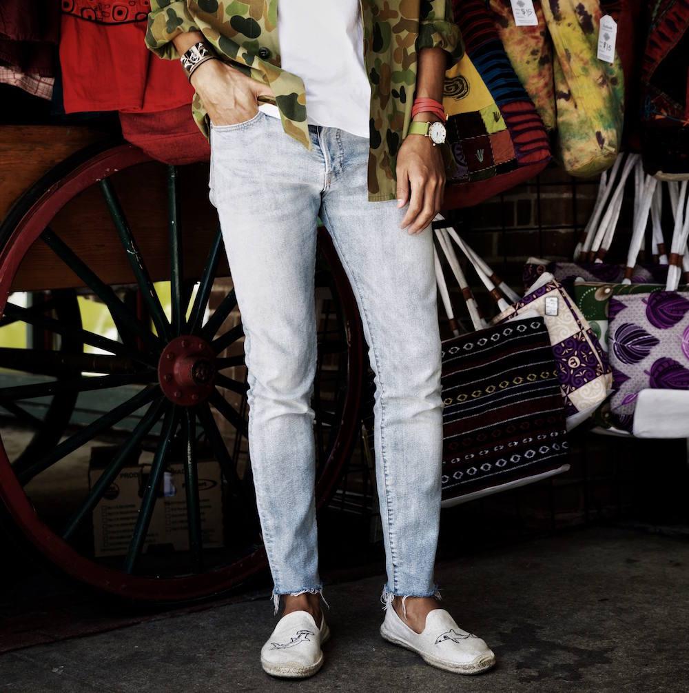 mens soludos lightwash jeans