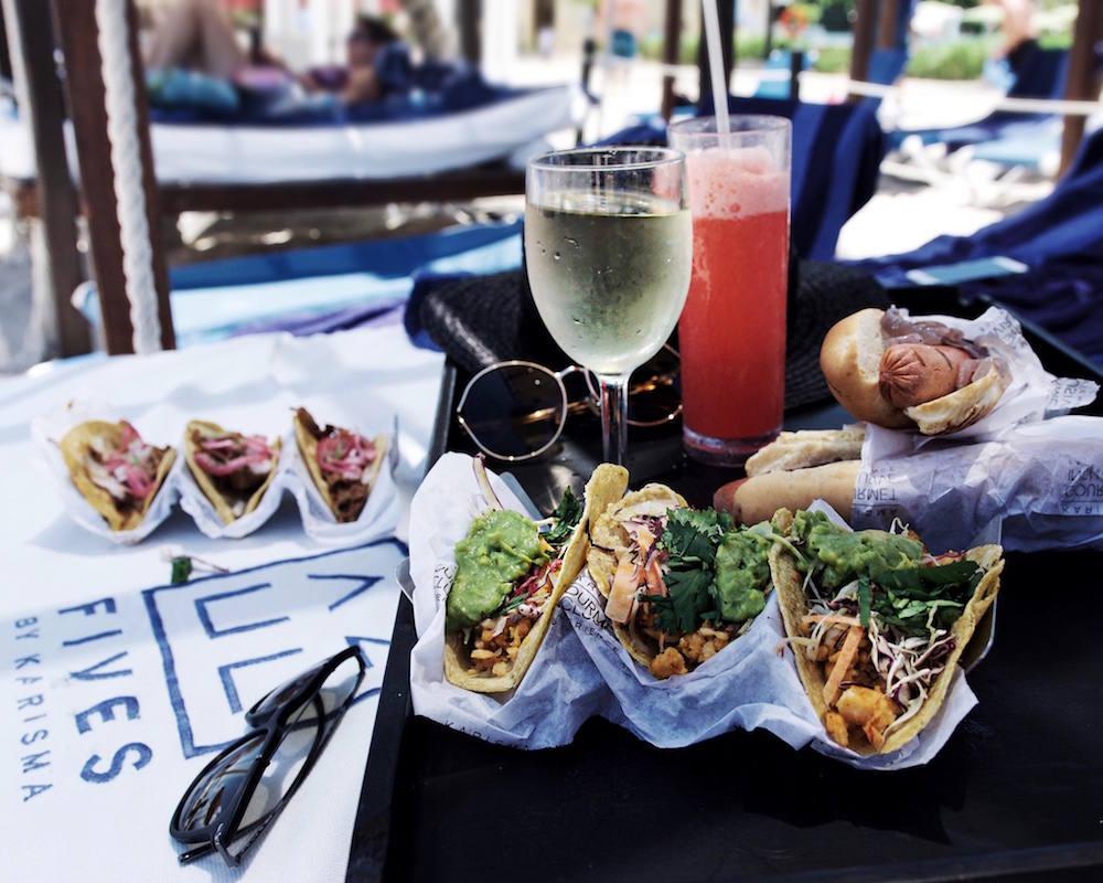 azul fives beach tacos