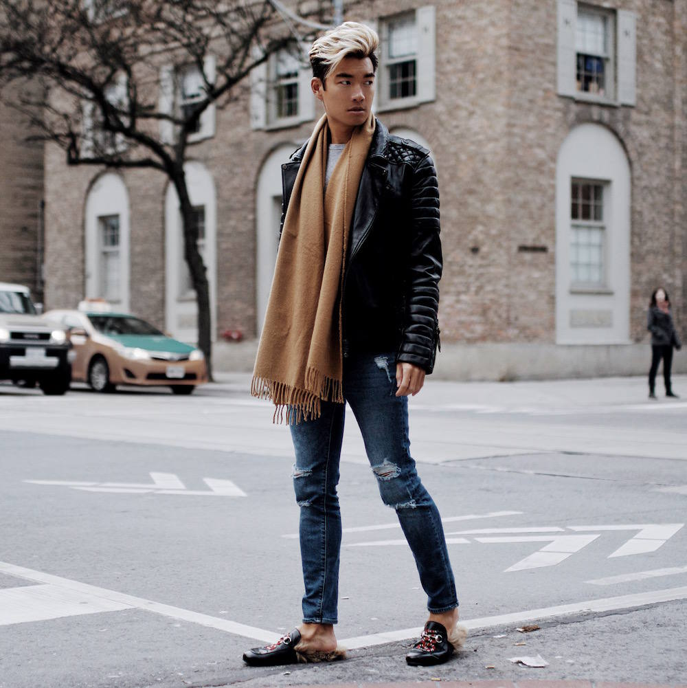 bodaskins gloss black jacket