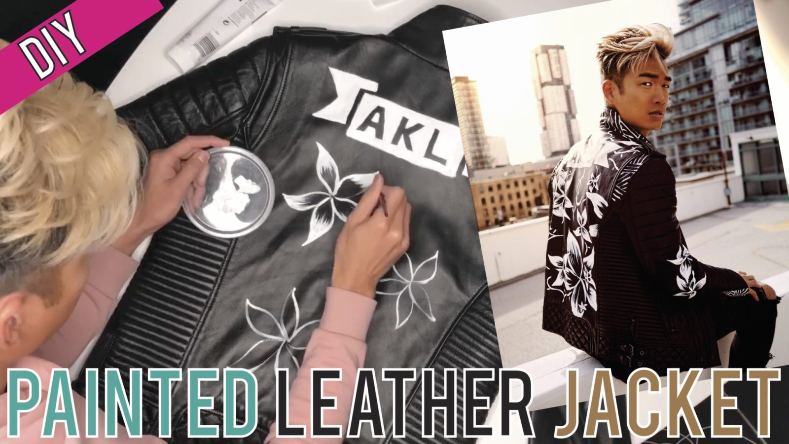 VIDEO: DIY Hand-Painting My Leather Jacket