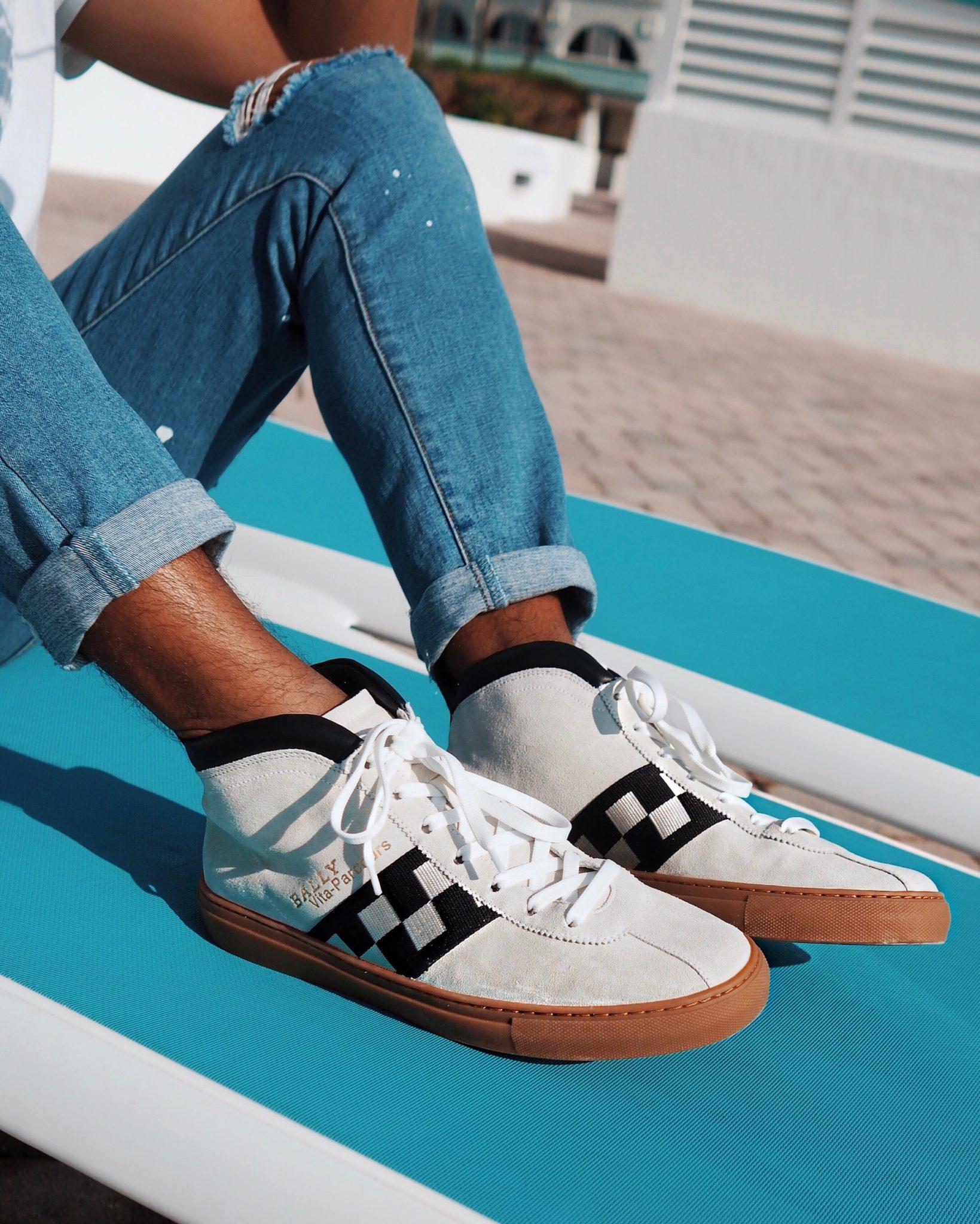 Sun Sea And Sartorial Nostalgia In Miami With Bally Retro Sneakers Alexanderliang Com